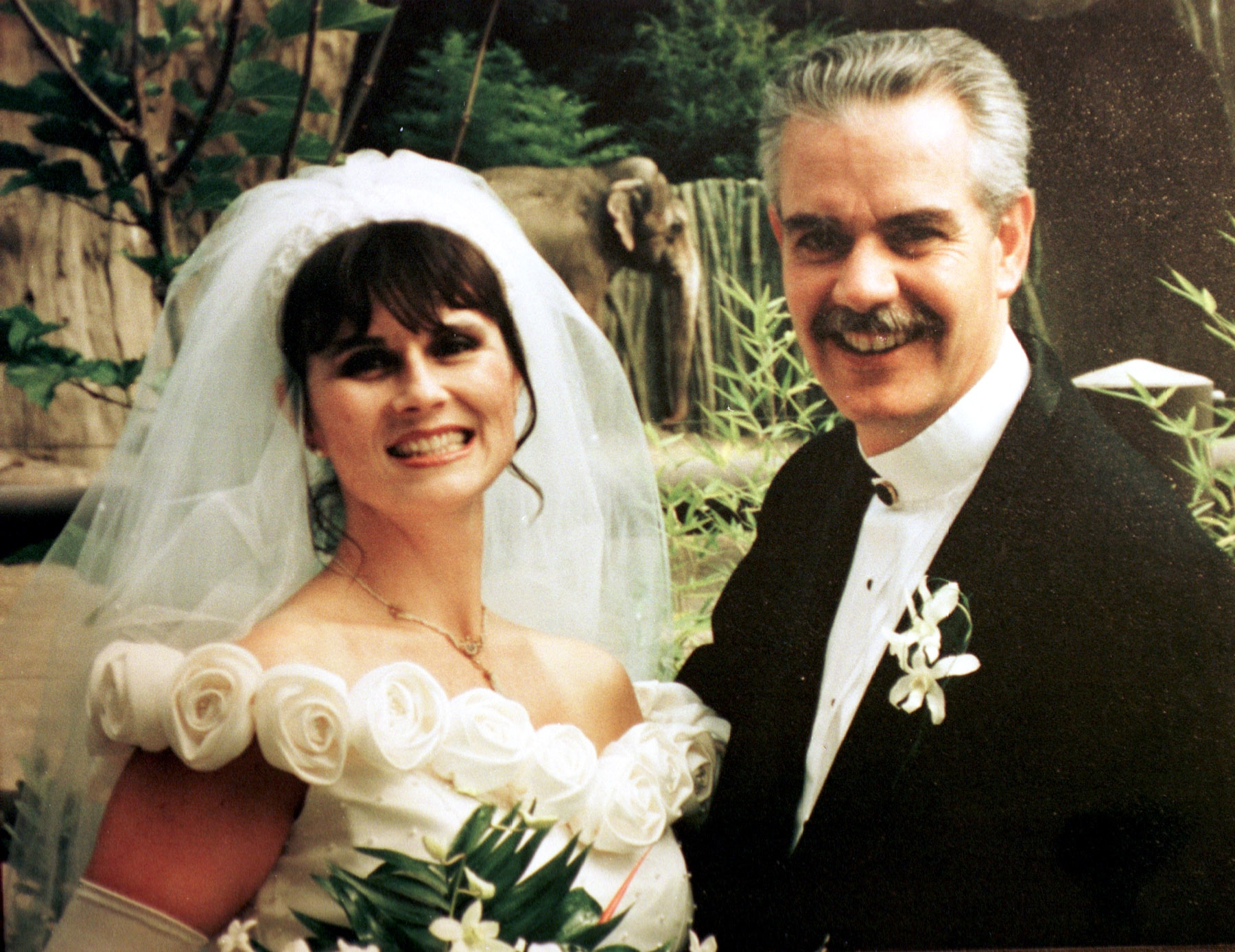 Rob Haubner and Susan Miller on their wedding day three years before they were murdered by Rwandan guerrillas.