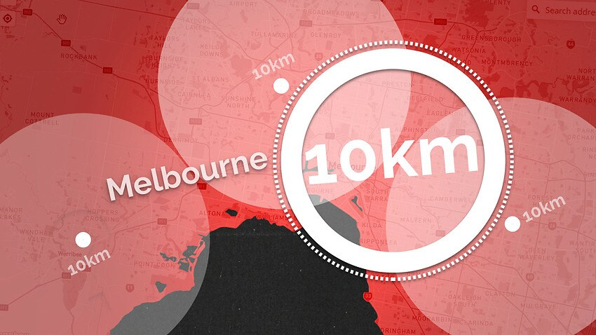 What is 10km from your home?