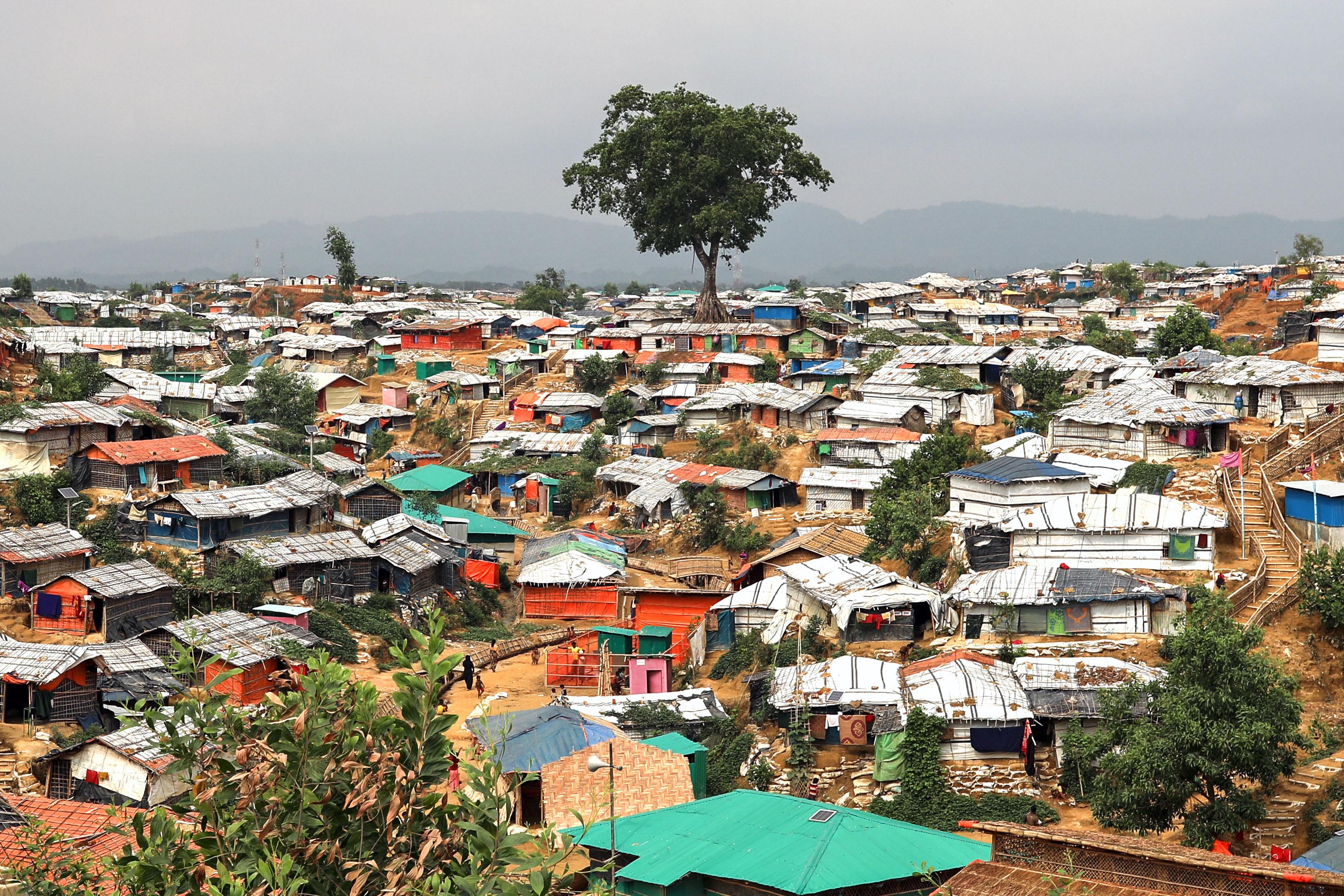 A landscape view  seen in the Balukhali camp in Cox's Bazar Bangladesh.