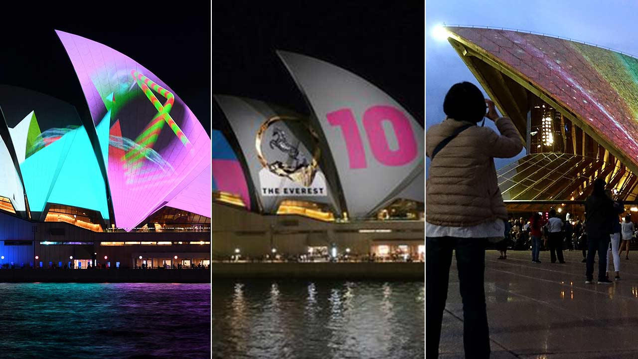 Thousands Attend Sydney Opera House Protest, Shine Lights Onto Sails