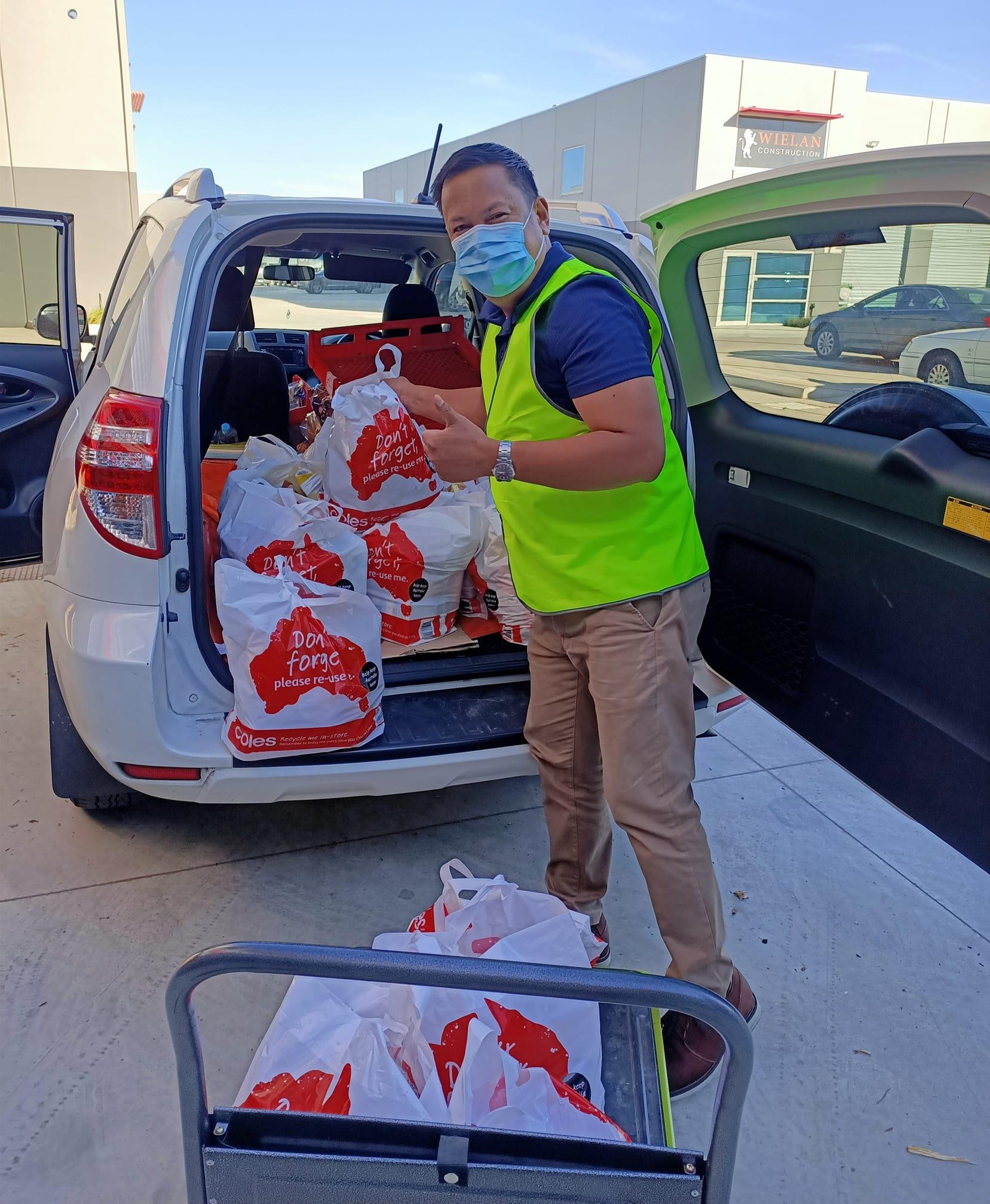 filipino community, bayanihan, relief package