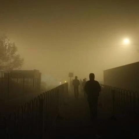 Beijing under smog