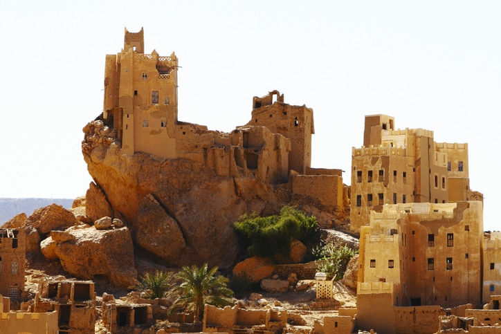 A village at Hadhramaut, Yemen.