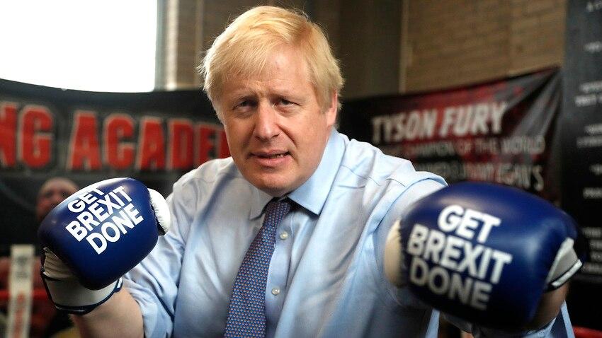 "Boris Johnson campaigned hard on ""Get Brexit Done""."