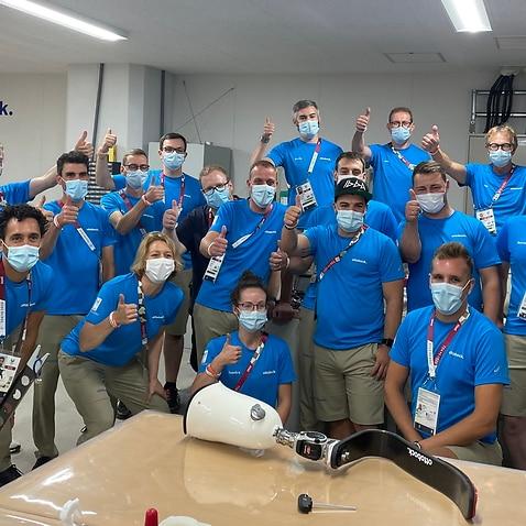 Tokyo Paralympics Technitians