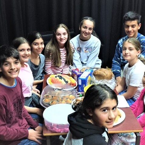 Students of the Creative Drama & Arts Centre, of Melbourne's Greek Community.