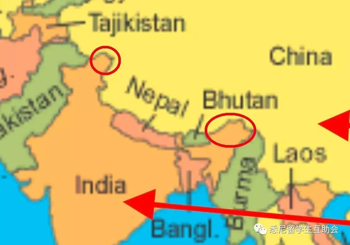 Chinese students left fuming after Sydney uni lecturer uses contested map of China-India border