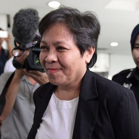 Maria Elvira Pinto Exposto (C), 54, has been granted bail in Malaysia after being cleared of drug trafficking.