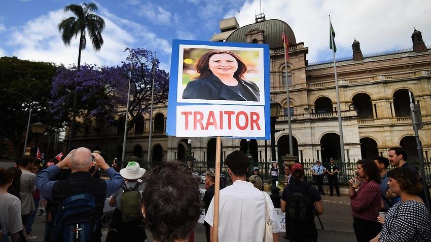Queensland Premier Annastacia Palaszczuk has come under fire for pursuing legislation to crack down on protesters.