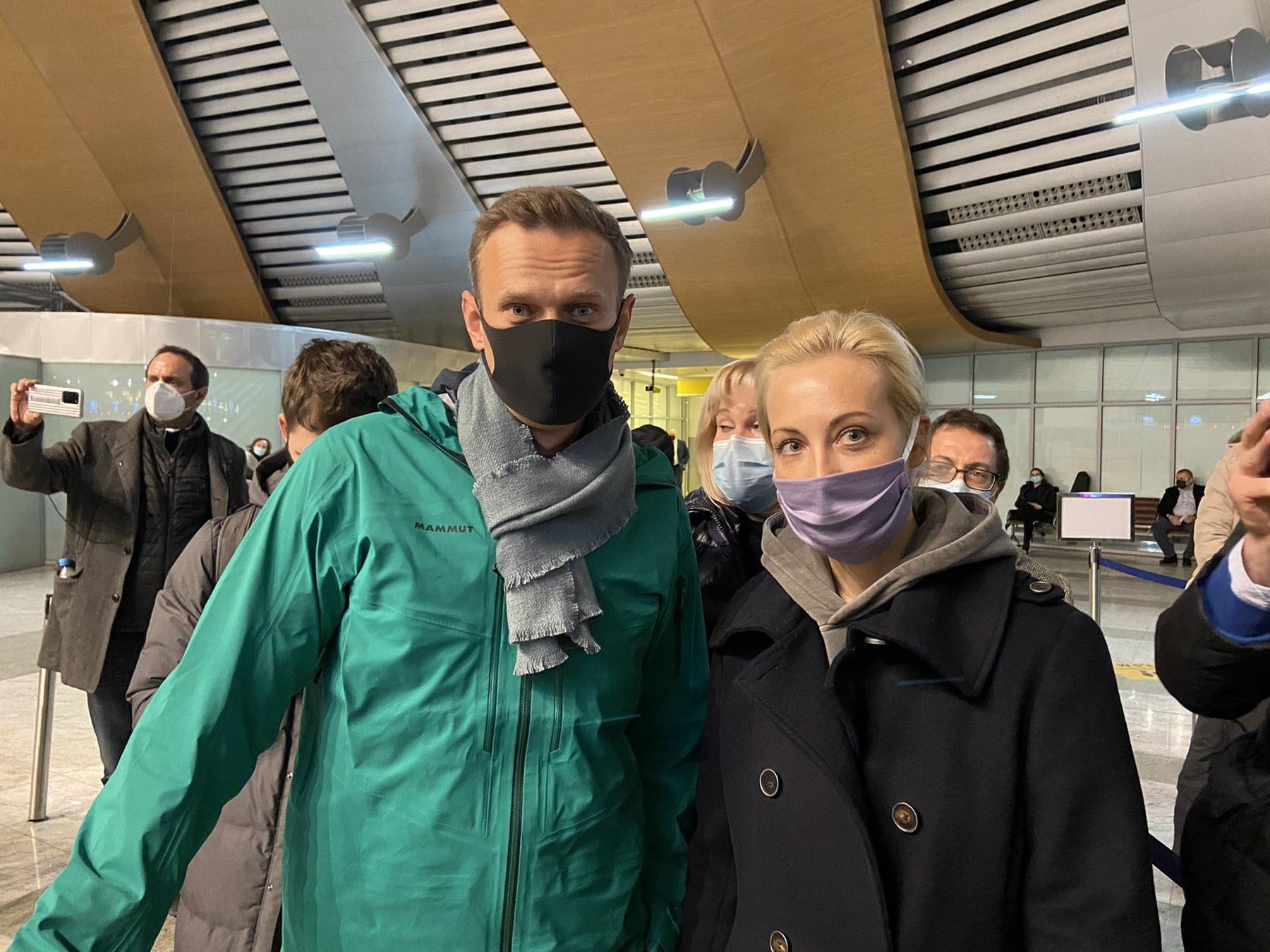 Alexei Navalny con la moglie Yulia