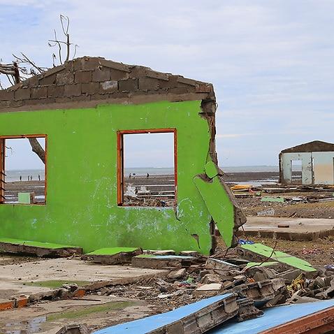 Supplied image of devastation of Cyclone Winston