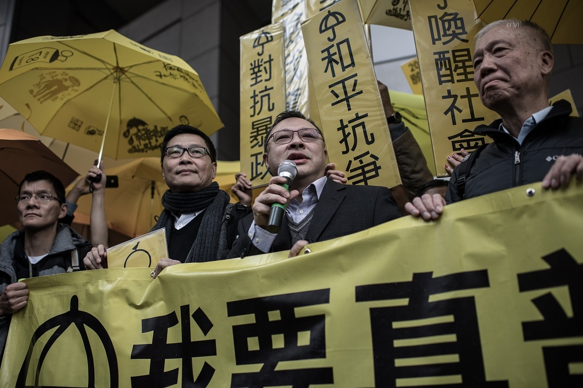 The founders of the Occupy Central movement handed themselves in to police as part of authorities' investigation into the 2014 mass rallies