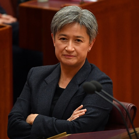 Shadow Minister for Foreign Affairs Penny Wong during Question Time in the Senate.
