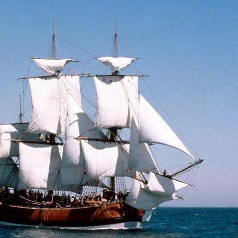 The Endeavour replica was due to circumnavigate Australia.