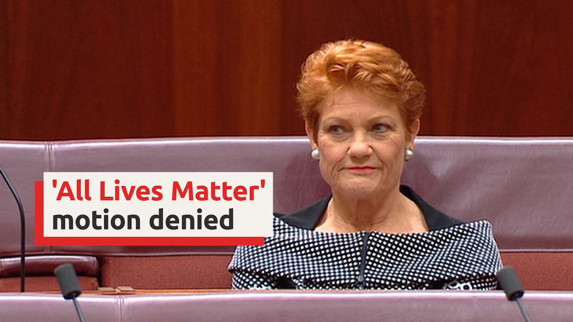 Pauline Hanson's 'all lives matter' motion voted down