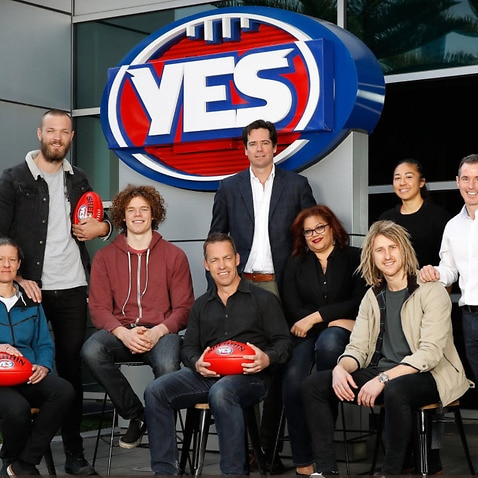 The AFL made its position clear about the upcoming same sex marriage postal survey with a logo change.