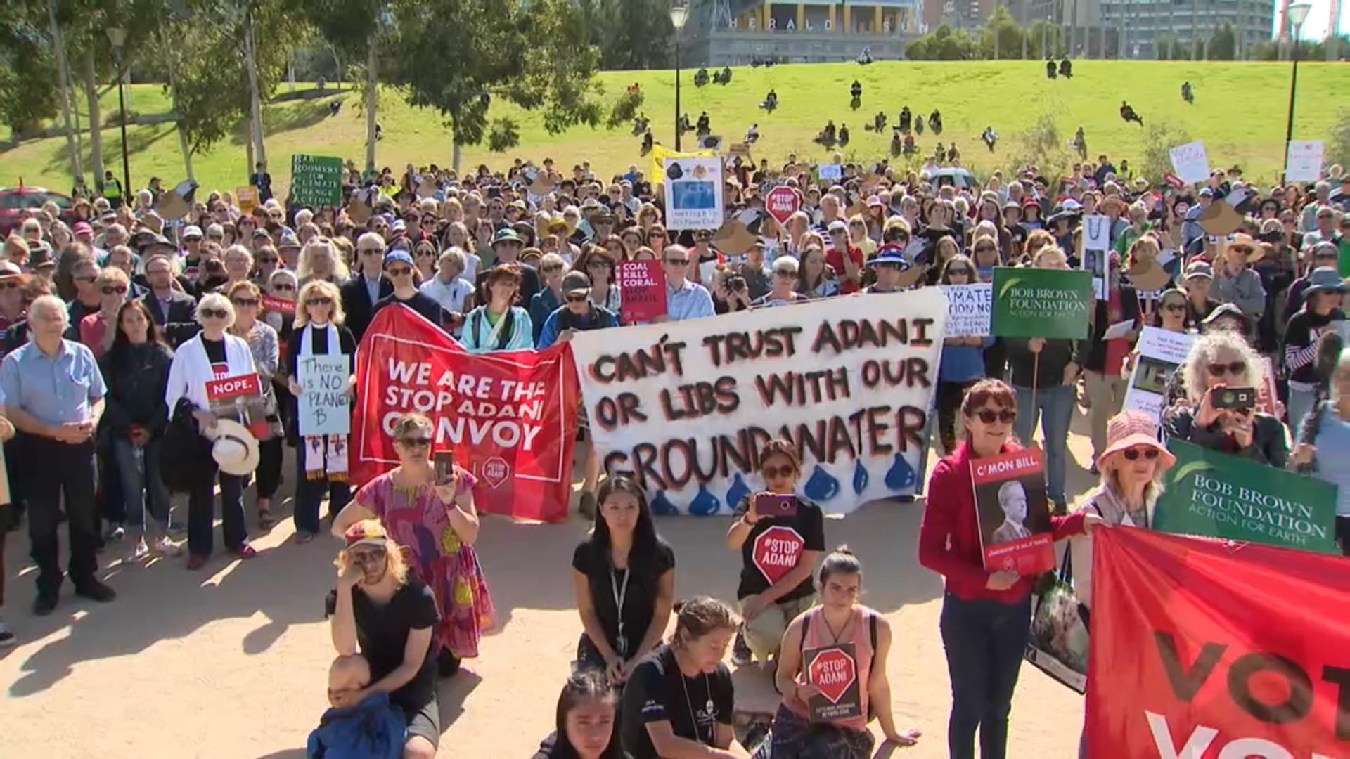 Adani protesters in Queensland.