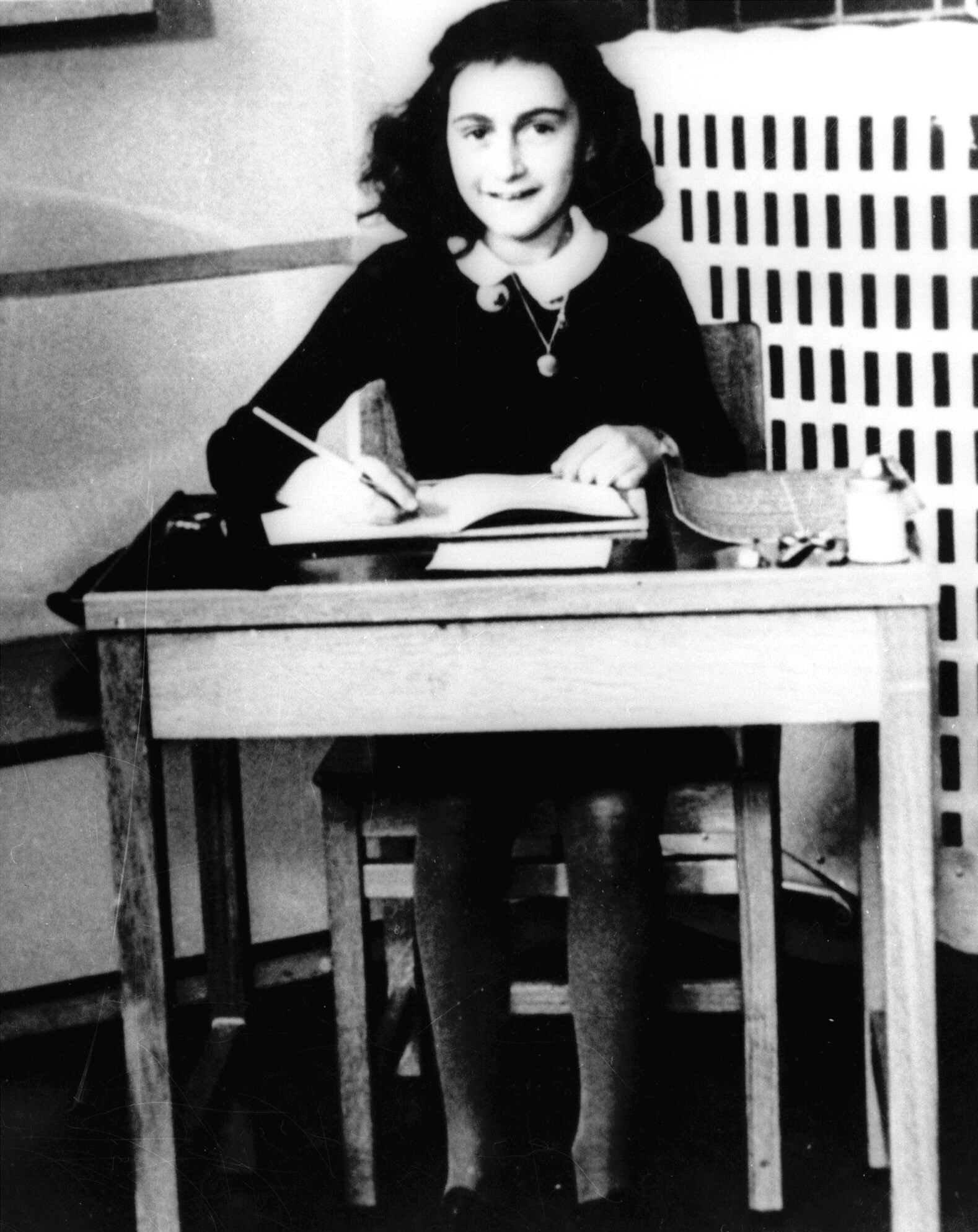 This is an undated photo of Anne Frank, the young Jewish girl who, with her family, hid from the Nazis in Amsterdam, Netherlands, during World War II.