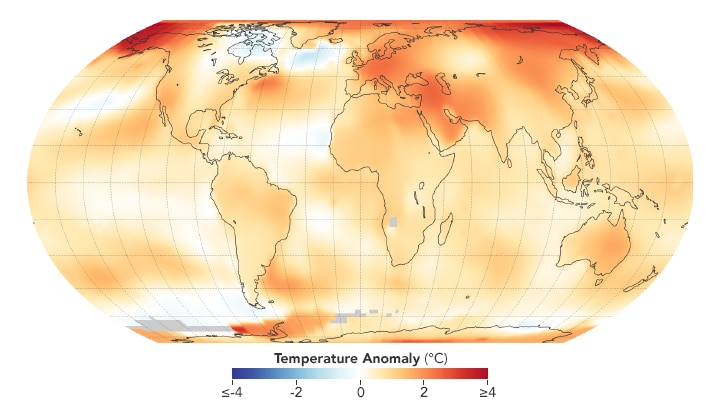2018 fourth hottest year on record NASA