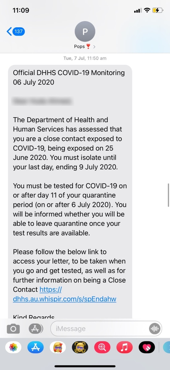 text message dhhs