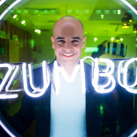 Adiano Zumbo poses for a portrait at his Circular Quay store.