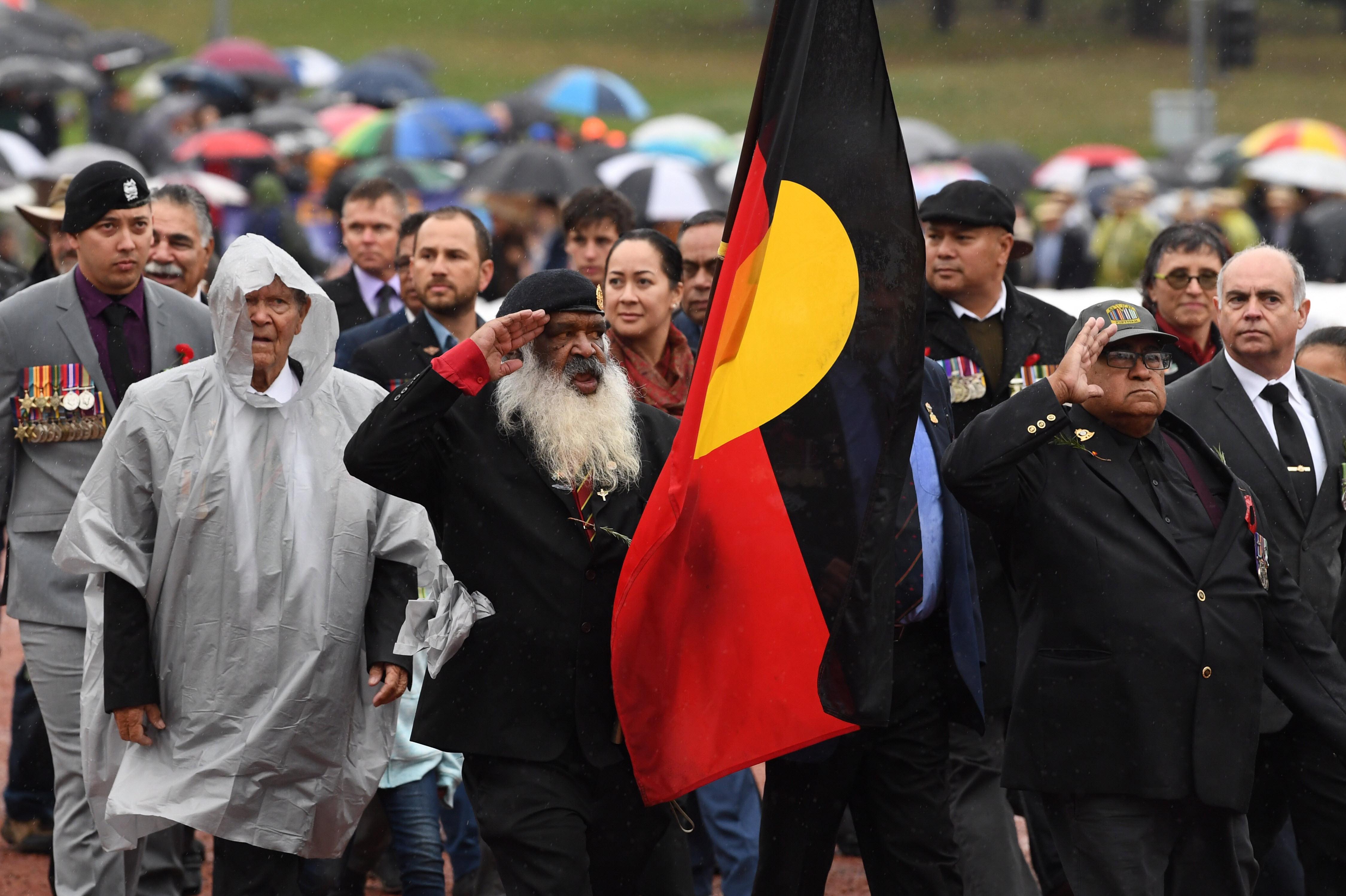 Indigenous soilders lead the ANZAC Day March