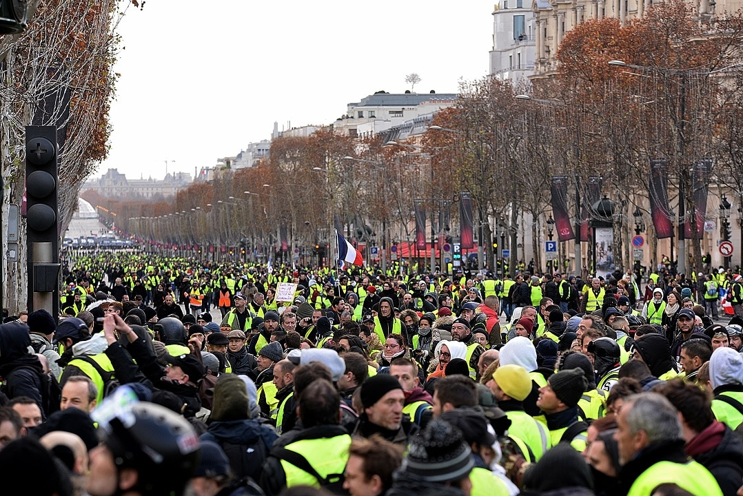 The fourth 'Yellow Vest' rally in Paris.