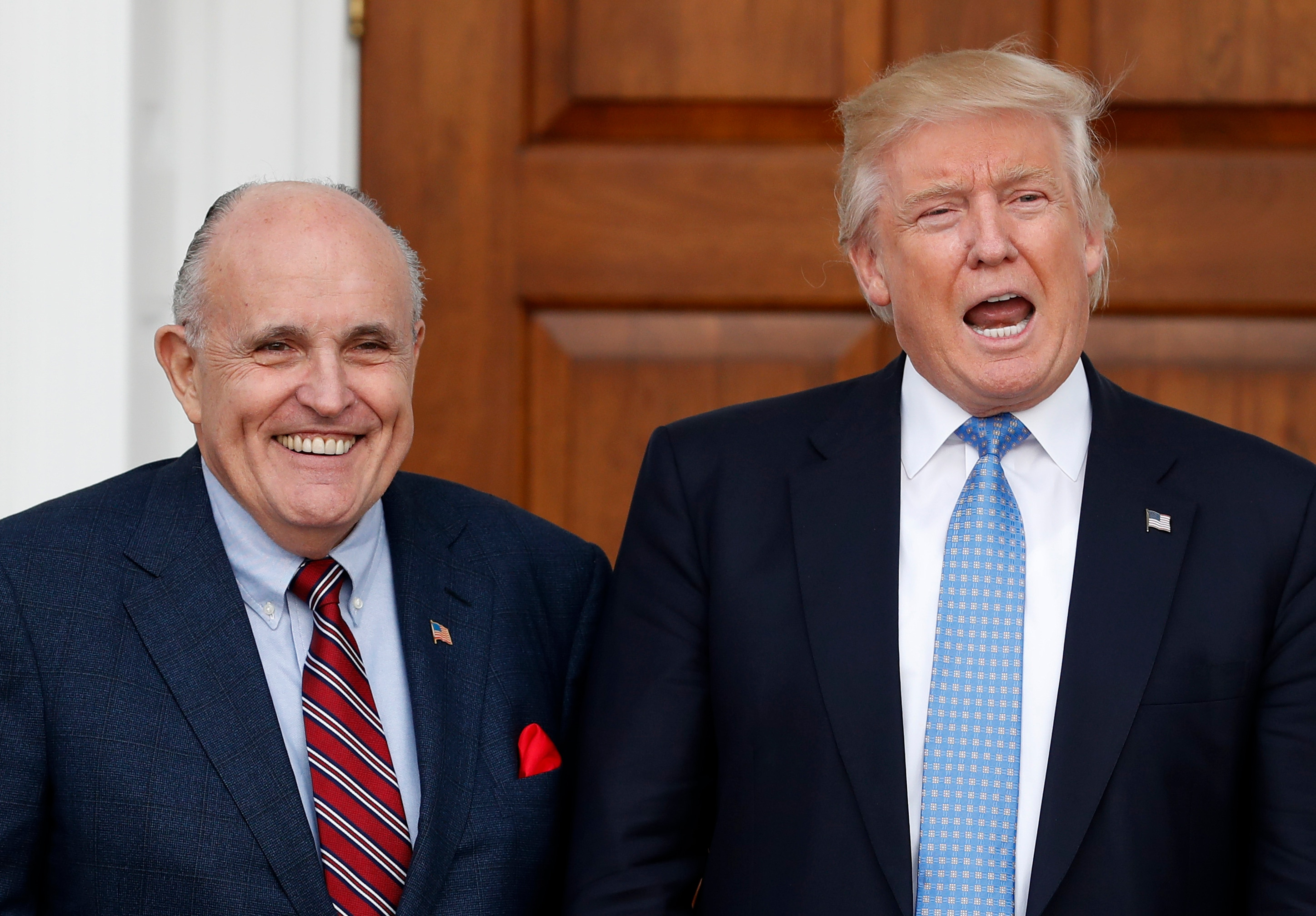 Donald Trump and Rudy Giuliani.