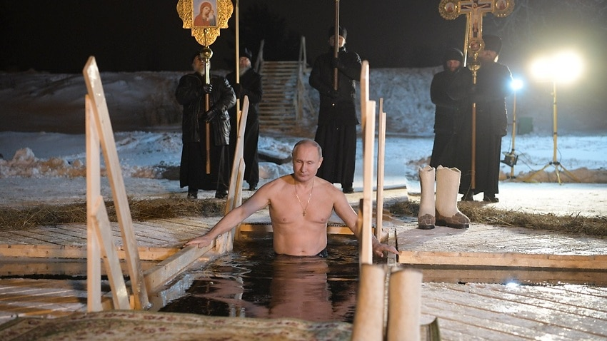 Image for read more article 'Putin takes icy plunge as Orthodox believers mark Epiphany'