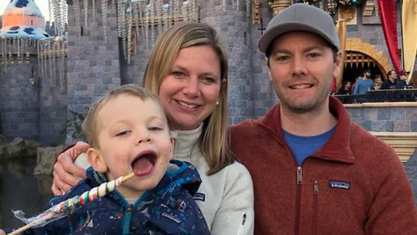 Christi-Ann Emous with her husband, Christopher Bilsborrow, and their four-year-old son Willem before their separation.
