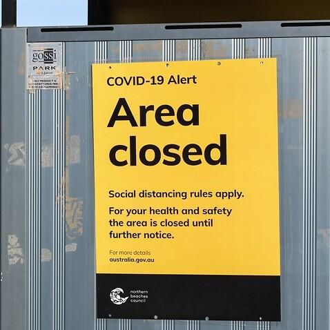 COVID area closed