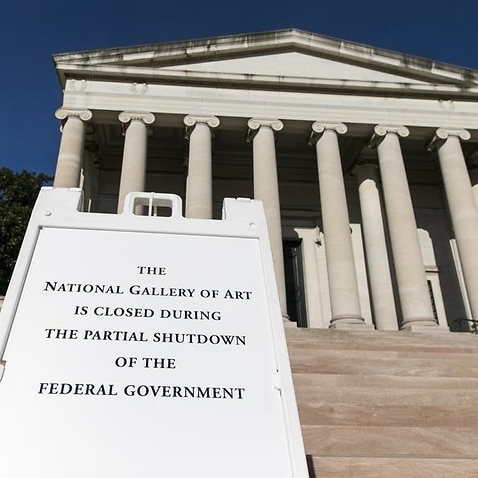 A sign outside of the National Gallery Of Art in Washington