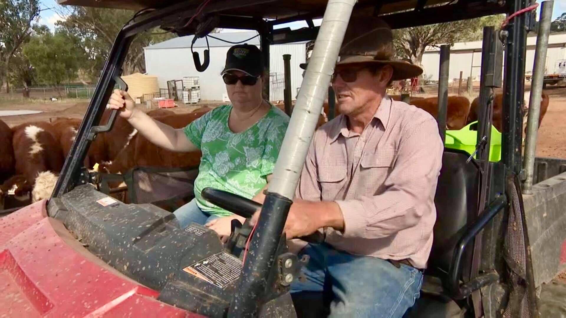 Karren and Peter Weller, Winton NSW.
