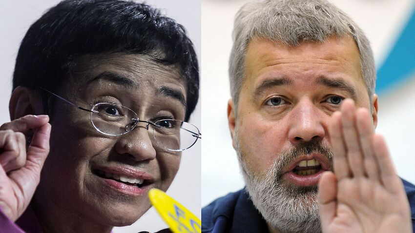Image for read more article 'Journalists Maria Ressa and Dmitry Muratov awarded 2021 Nobel Peace Prize'