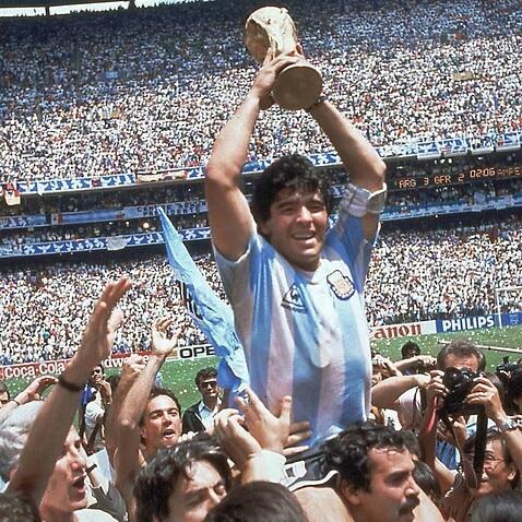 Con la maglia dell'Argentina, Diego Amando Maradona ha segnato 34 gol in 91 partite, conquistando il Mondiale del 1986 in Messico.