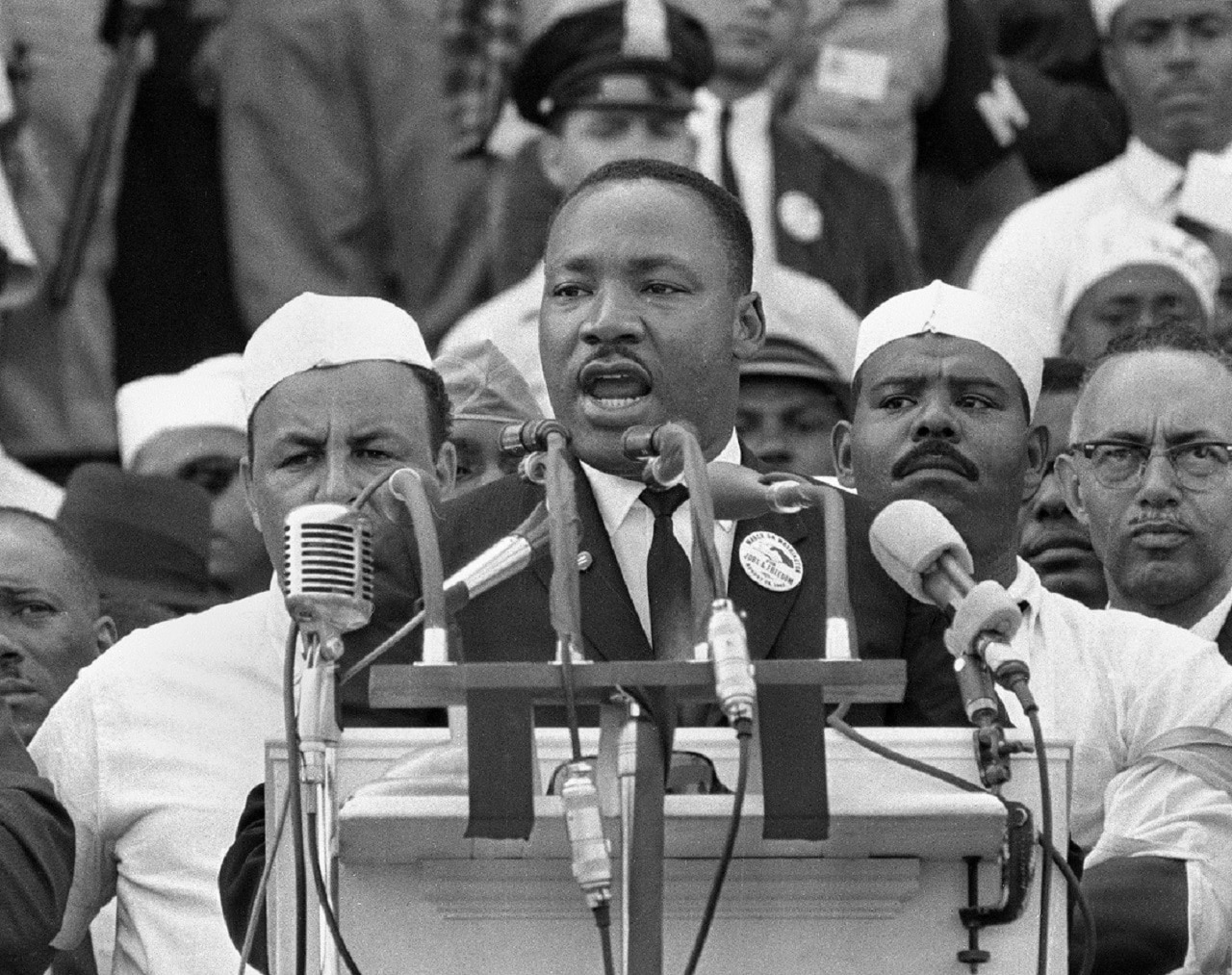 Martin Luther King Jr pictured in 1963.