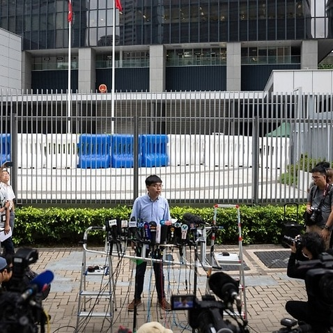 High-profile Hong Kong pro-democracy activist Joshua Wong has been banned from running in an election next month.