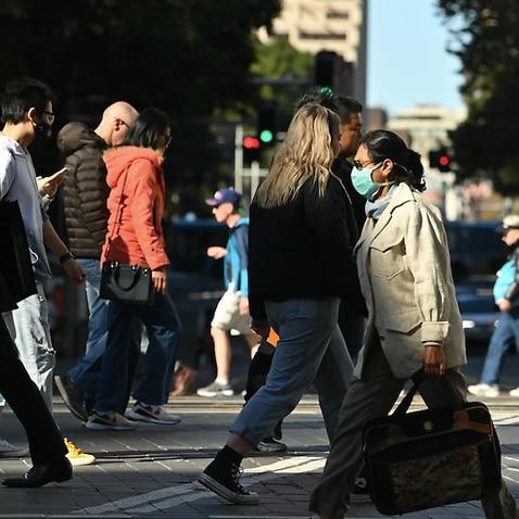 A crowded Sydney street.