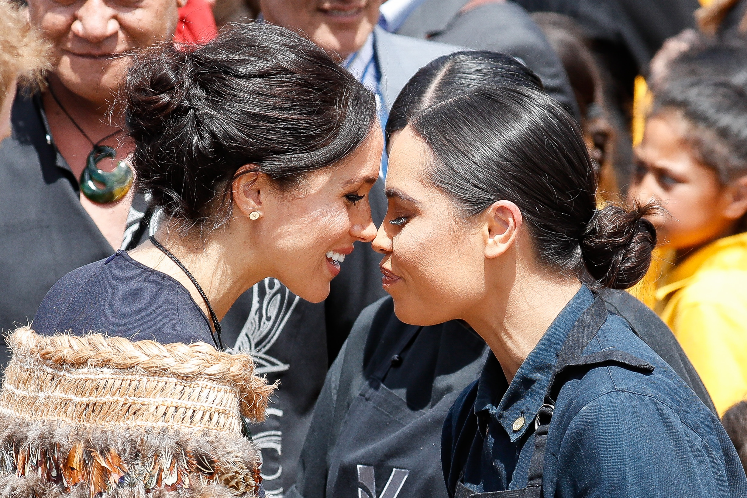 Meghan, Duchess of Sussex greets locals during the 2018 visit to New Zealand.