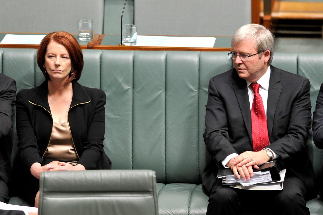 Julia Gillard and Kevin Rudd in 2010.