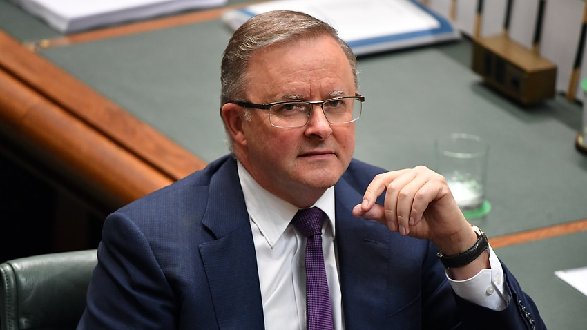 Leader of the Opposition Anthony Albanese during Question Time in the House of Representatives at Parliament House in Canberra, Tuesday, December 3, 2019. (AAP Image/Mick Tsikas) NO ARCHIVING
