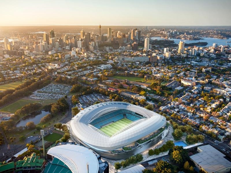 The new stadium is expected to be completed by early 2022. (AAP)