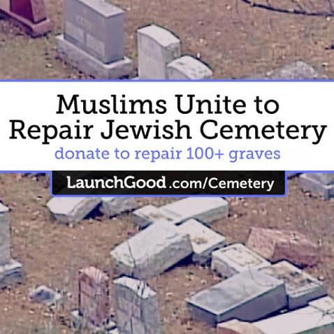 Muslim Americans organise to help the Jewish community repair a graveyard in Philadelphia