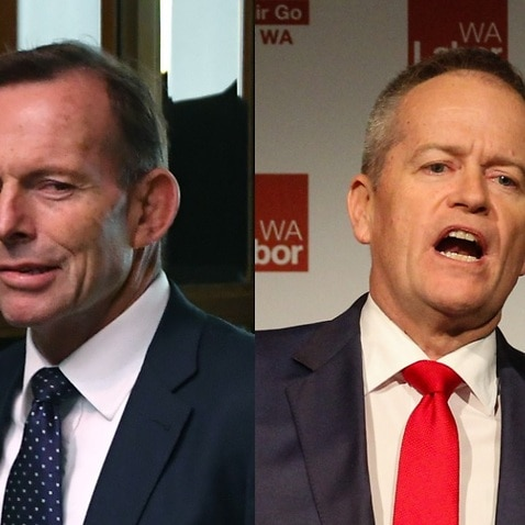 Composite images of former PM Tony Abbot and Labor leader Bill Shorten