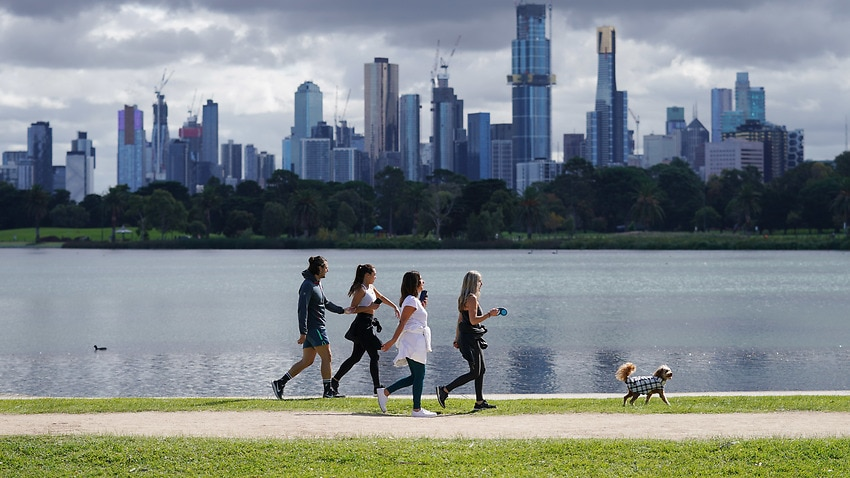 Daniel Andrews has warned people not to go across town for exercise.