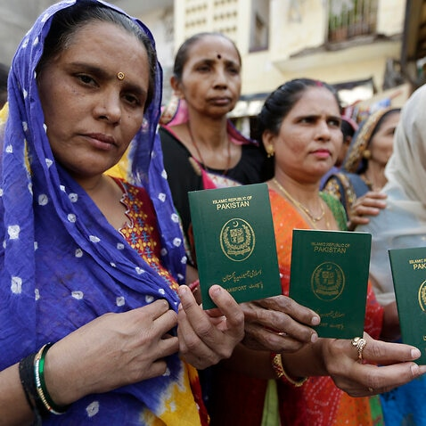 Hindu refugees who migrated from Pakistan show support for the Citizenship Amendment Act.