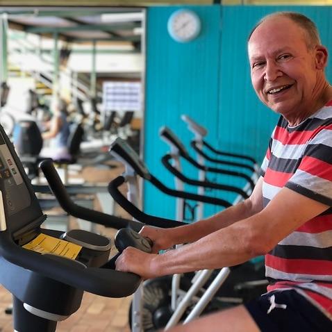 Thomas Mrazek at the gym
