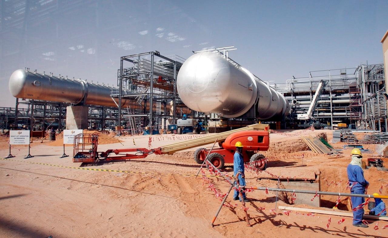 An oil field near Riyadh.