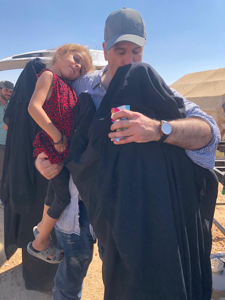 Kamalle Dabboussy visited the al-Hawl camp in Syria  and reunited with her daughter and two grandchildren.