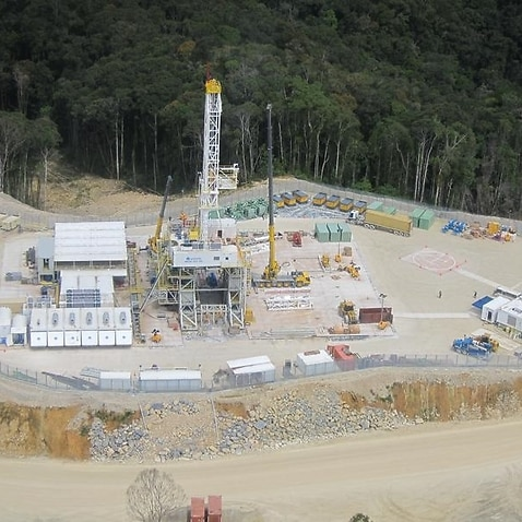 A Exxon natural gas project site in Papua New Guinea.